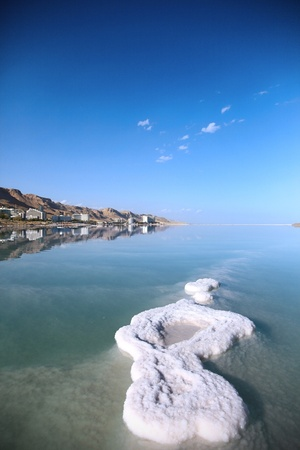 Dead Sea landscape pretty clean in the summer day photo