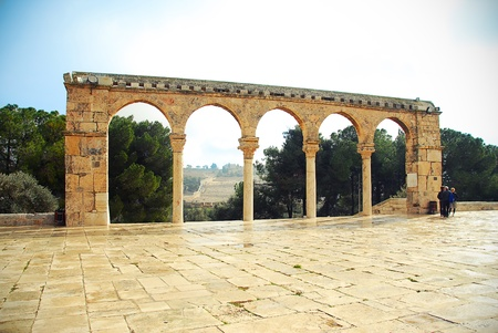 ancient old arch of Jerusalem photo