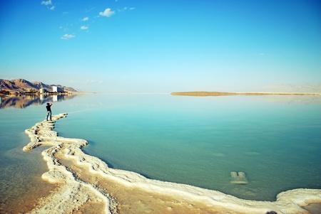 Dead Sea landscape pretty clean in the summer day