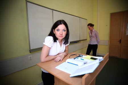 loser student and teacher, brings an evil photo