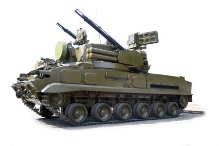 arma antiaérea fondo aislado