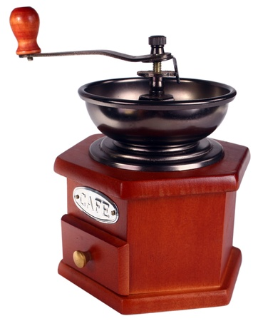 vintage coffee grinder isolated white background Stock Photo - 13813189