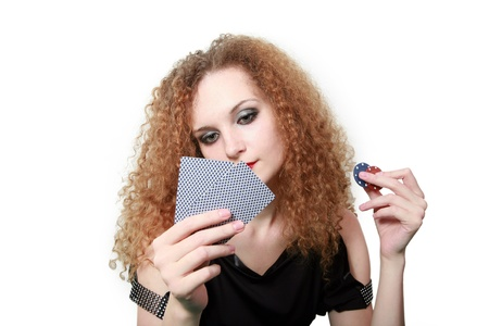bluffing or not bluffing game of cards isolated photo