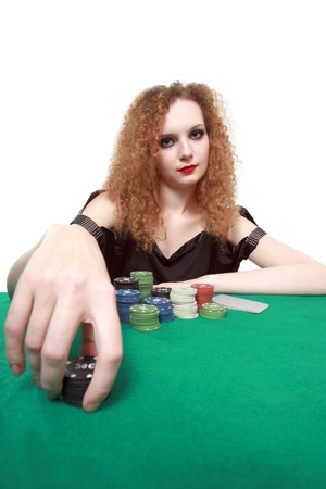 my bet poker isolated white background photo