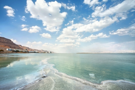 types of dead sea on a summer day Stock Photo