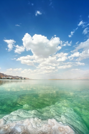 Dead Sea landscape on a summer day photo