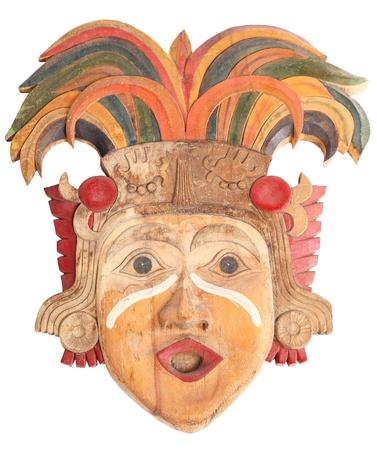 idols: mask of the ancient idols of wood made hand Stock Photo