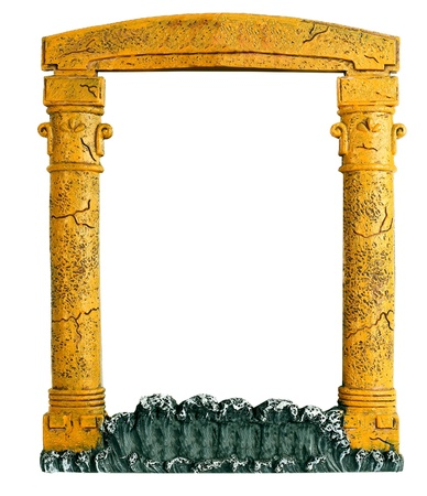 frame in the form of an arch for photos and paintings of isolated Stock Photo - 16278763