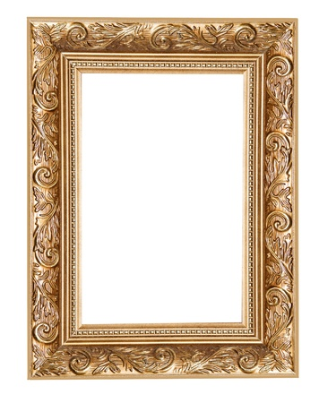 carved frame isolated on white background Stock Photo - 16409282