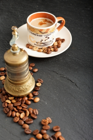 natural coffee flavored hot cup on the table Stock Photo - 16831698