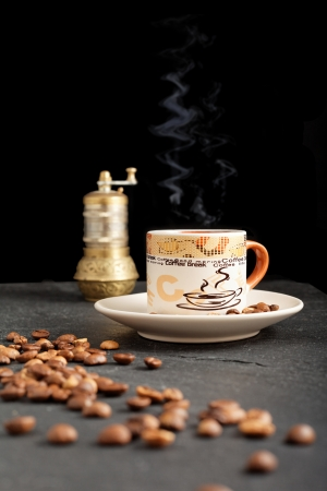 aromatic coffee and freshly brewed hot Stock Photo - 16831713