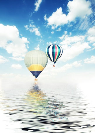 travel burner: balloons air travel adventure summer