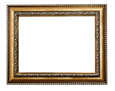 golden frame isolated on white background Stock Photo - 16989222