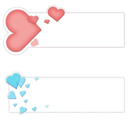 Banner for Valentine s Day isolated white Stock Photo - 17174132