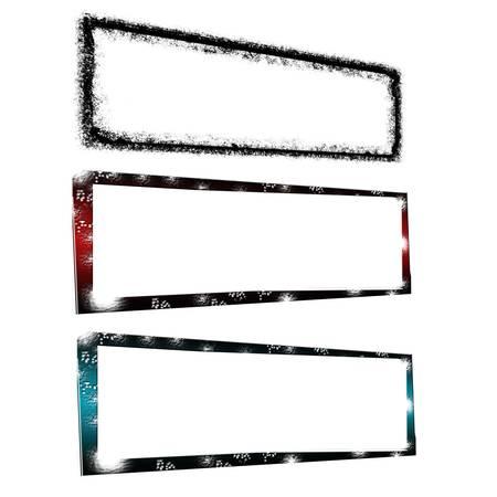 creative templates framework isolated white background Stock Photo - 17314124