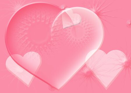 Background Valentine's Day in pink Stock Photo - 17314126