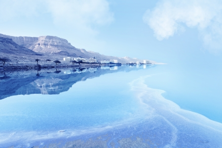 day of the dead: resorts of the Dead Sea in Israel in the summer vacation