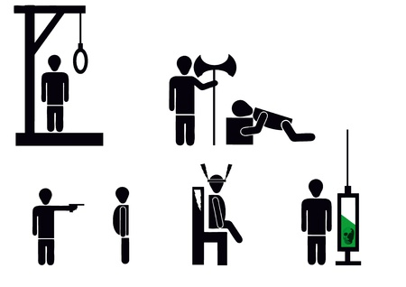 penalty: death penalty different methods of punishment Illustration