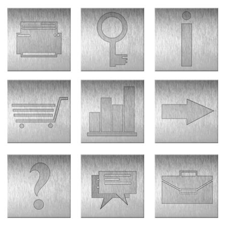 icons in the steel style on isolated white background Stock Photo - 18345650