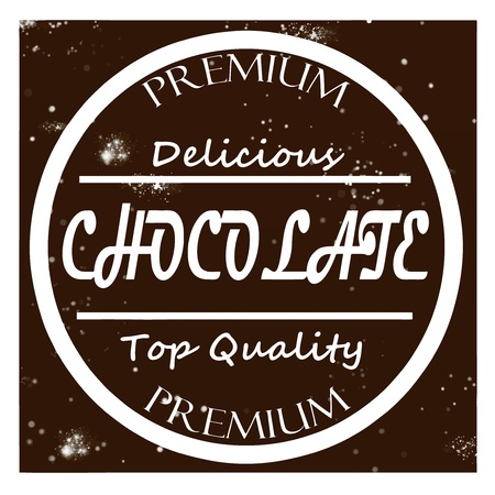 Retro label chocolate vector Vector