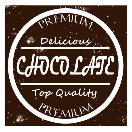 Retro label chocolate vector Stock Vector - 18392582