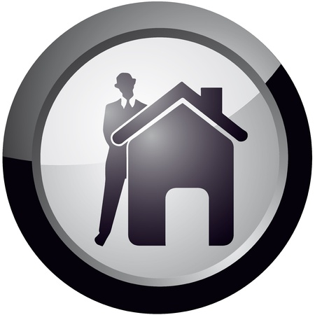 icon in the style of your sweet home, the vector Stock Vector - 18512623