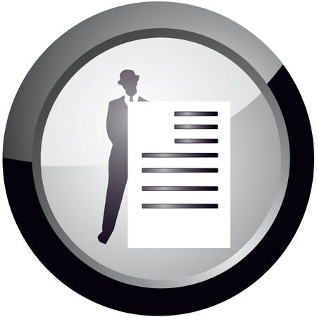 icon in the style to maintain documentation, vector Stock Vector - 18512608