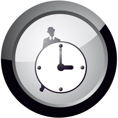 icon of style do not waste time, vector Stock Vector - 18512610