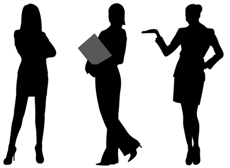 business woman silhouette vector illustration Vector