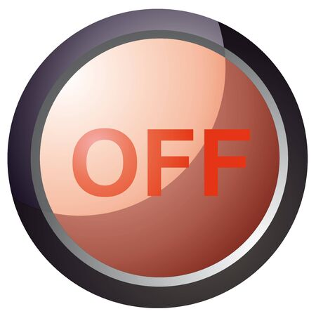 vector button turn red illustration Stock Vector - 18512627