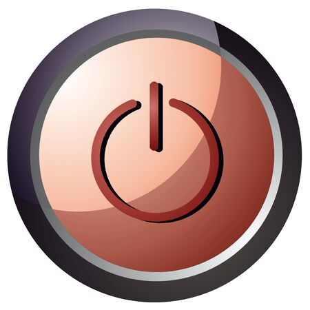 vector power button red color illustration Stock Vector - 18512613