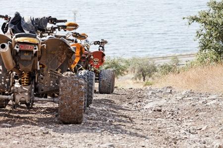 motocicletas después del torneo