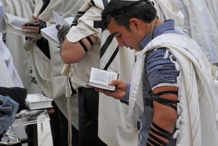 worshipers pray at the Wailing Wall Jerusalem Editorial
