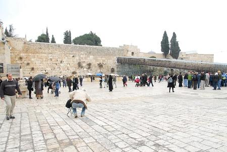 ancient shrine wailing wall of Jerusalem
