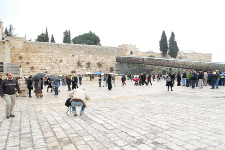 wailing: ancient shrine wailing wall of Jerusalem