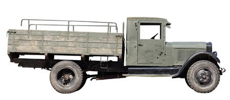 retro military car to transport the wounded