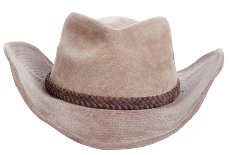 cowboy hat closeup, isolated background Stock Photo
