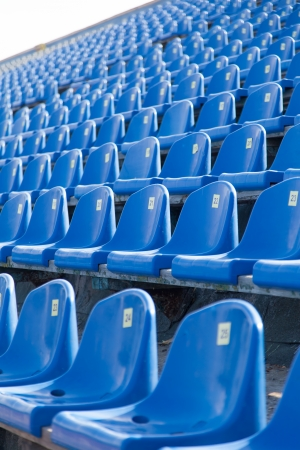 seats in the stadium to support groups during the match photo