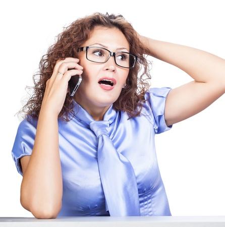 interrogativa: interrogativa emoci�n muchacha bonita en la oficina