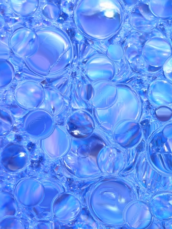 bubbles in water, close-up, background photo