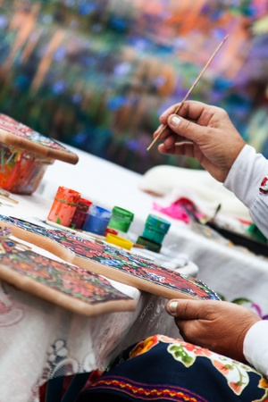hand-coloring, Slavic traditions Art photo
