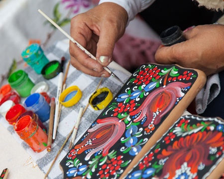 handpainting tradition of Slavic art gift photo
