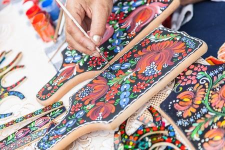 hand made souvenirs tradition of Slavic art photo