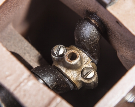 negotiable: negotiable part of the mechanical devices, background close-up Stock Photo