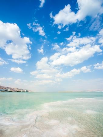 seascape Dead Sea in Israel, background 版權商用圖片 - 23083973