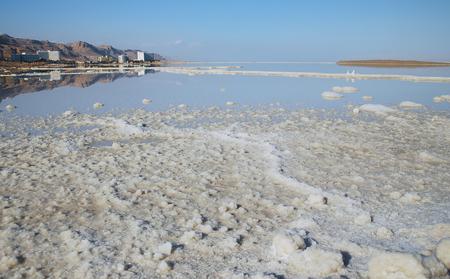 mineral salt Dead Sea in Israel photo