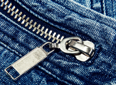 jeans cloth background with zipper macro Stock Photo - 23238806