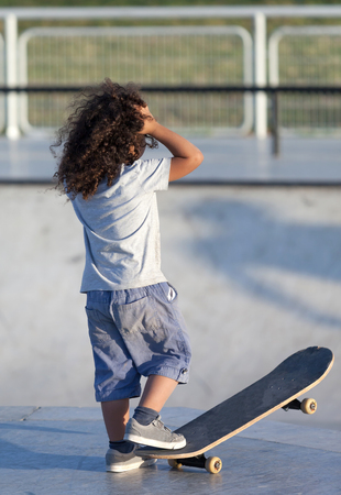 active lifestyle: boy with a skateboard active lifestyle Stock Photo