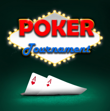 Poker tournament, gambling background color Stock Photo