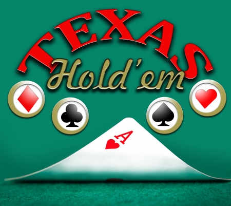 poker texas holdem, gambling  Stock Photo